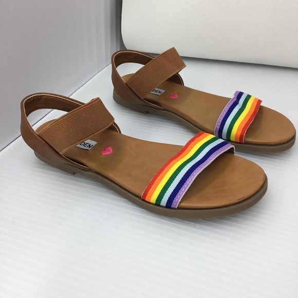 Steve Madden Other - Steve Madden JDell Cognac Multi-Colored Sandals